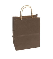 Shopping Bag Solid Chocolate 8x5x10
