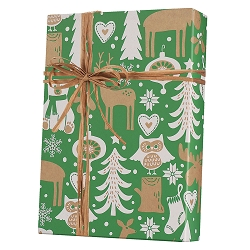 Woodland Critters/Kraft Wrapping Paper