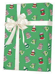 Christmas Drinks Gift Wrapping Paper