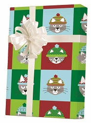 Grumpy Cats Wearing Hats Gift Wrapping Paper