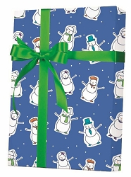 Well Dressed Snowmen Gift Wrapping Paper