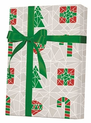 Stained Glass Gift Wrapping Paper