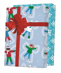 Snow Angels Reversible Gift Wrapping Paper