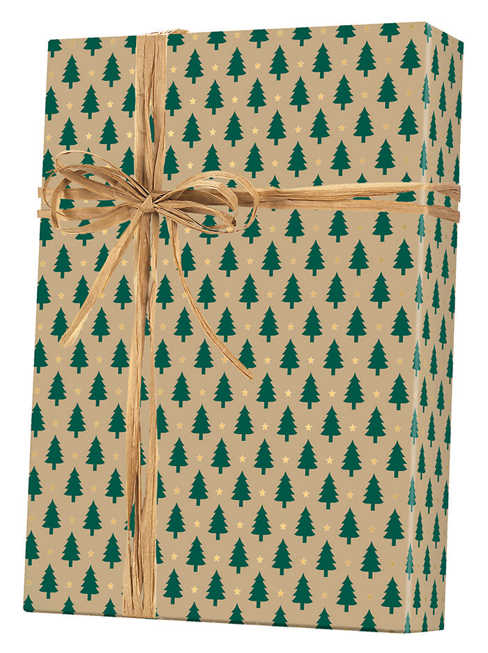 Little Trees/Kraft Wrapping Paper