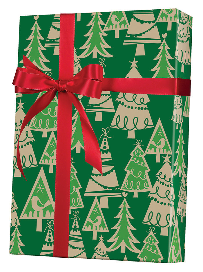 Holiday Forest/Kraft Wrapping Paper