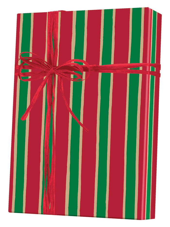 Christmas Stripe/Kraft Wrapping Paper