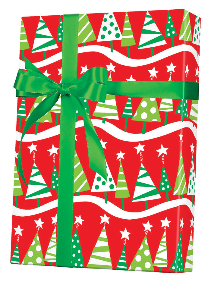 Christmas Tree Rock Wrapping Paper