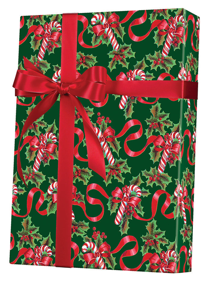 Ribbons & Canes Wrapping Paper
