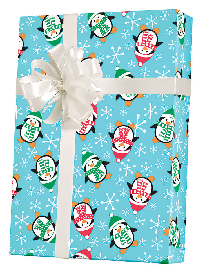 Roly Poly Penguins Wrapping Paper