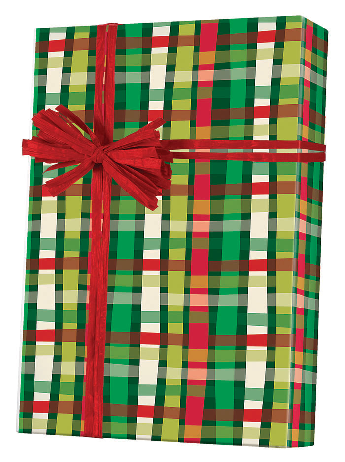 Christmas Weave Wrapping Paper