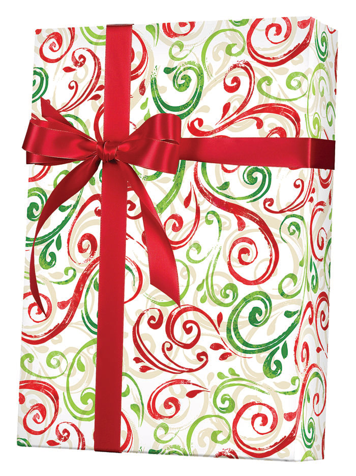 Christmas Swirls Wrapping Paper
