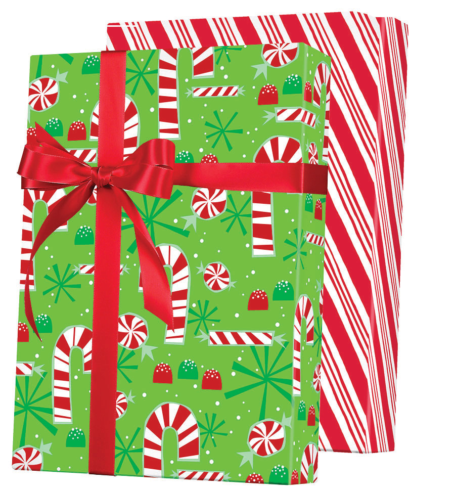 Contempo Canes Reversible Wrapping Paper