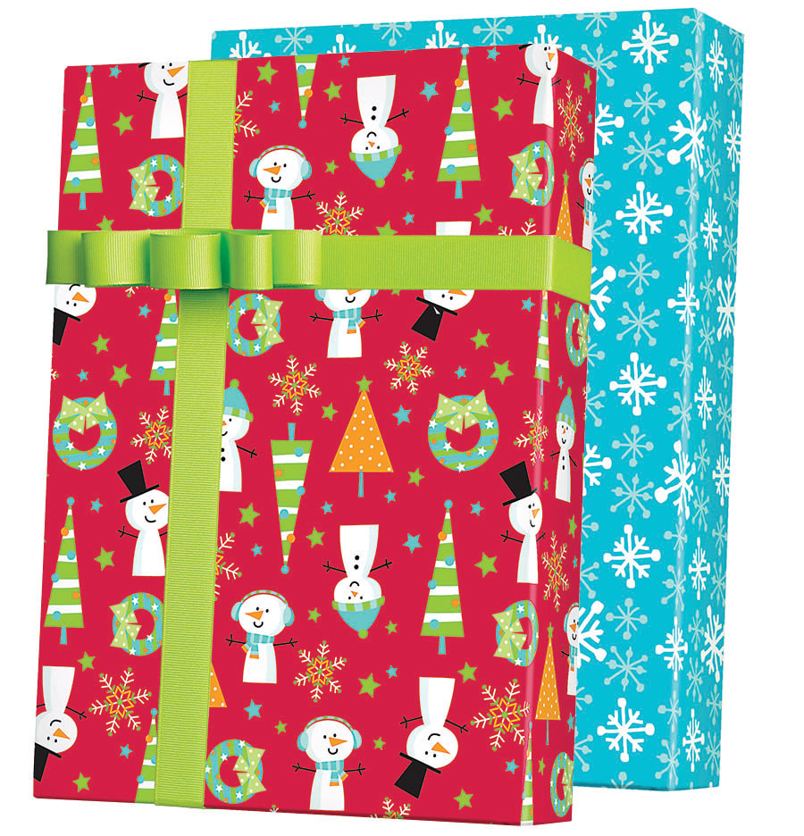 Snow Buddies Reversible Wrapping Paper