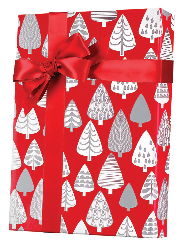 Silver Forest Wrapping Paper
