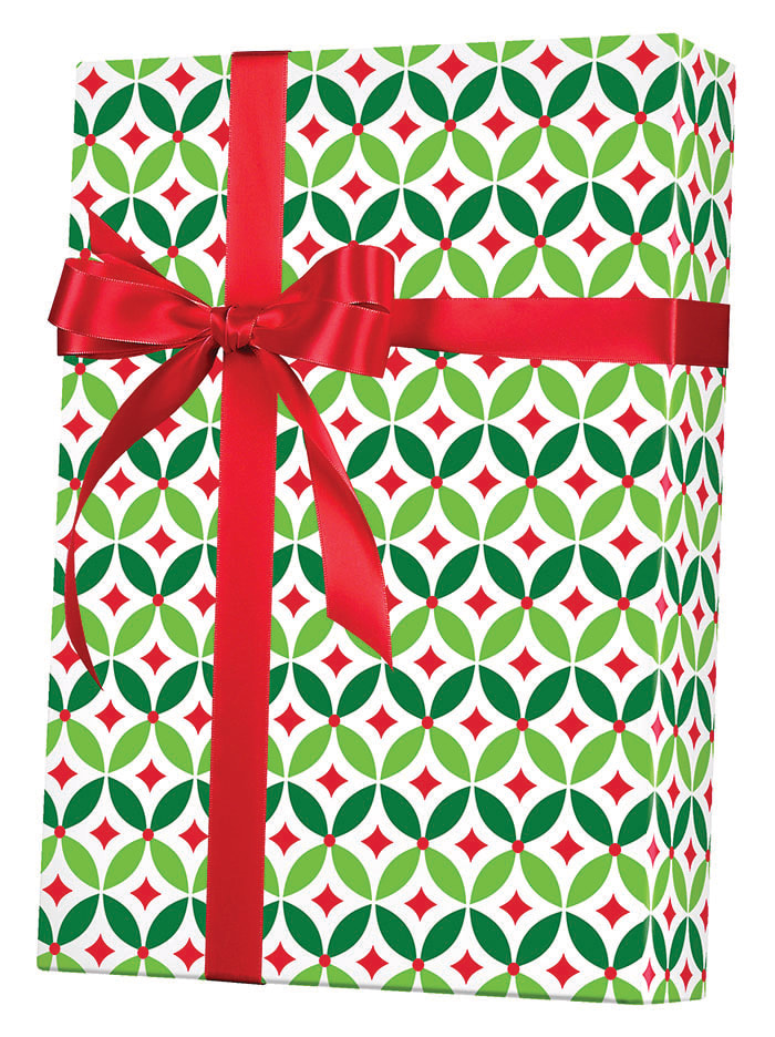 Geo Holly Wrapping Paper