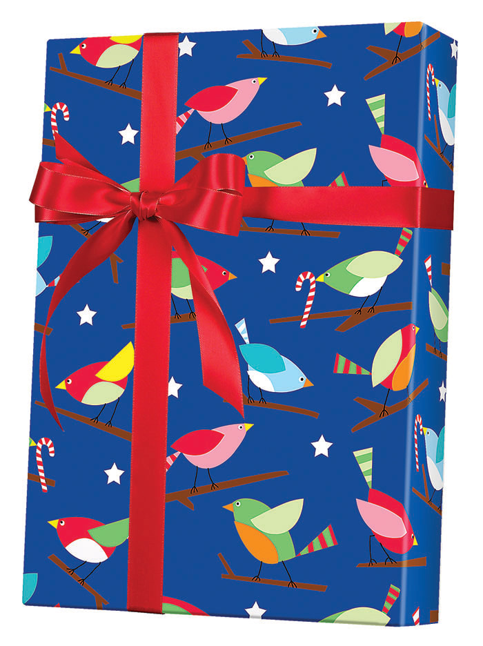 Holiday Tweets Wrapping Paper