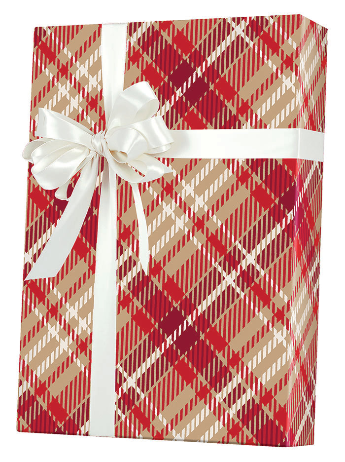 Just Plaid/Kraft Wrapping Paper