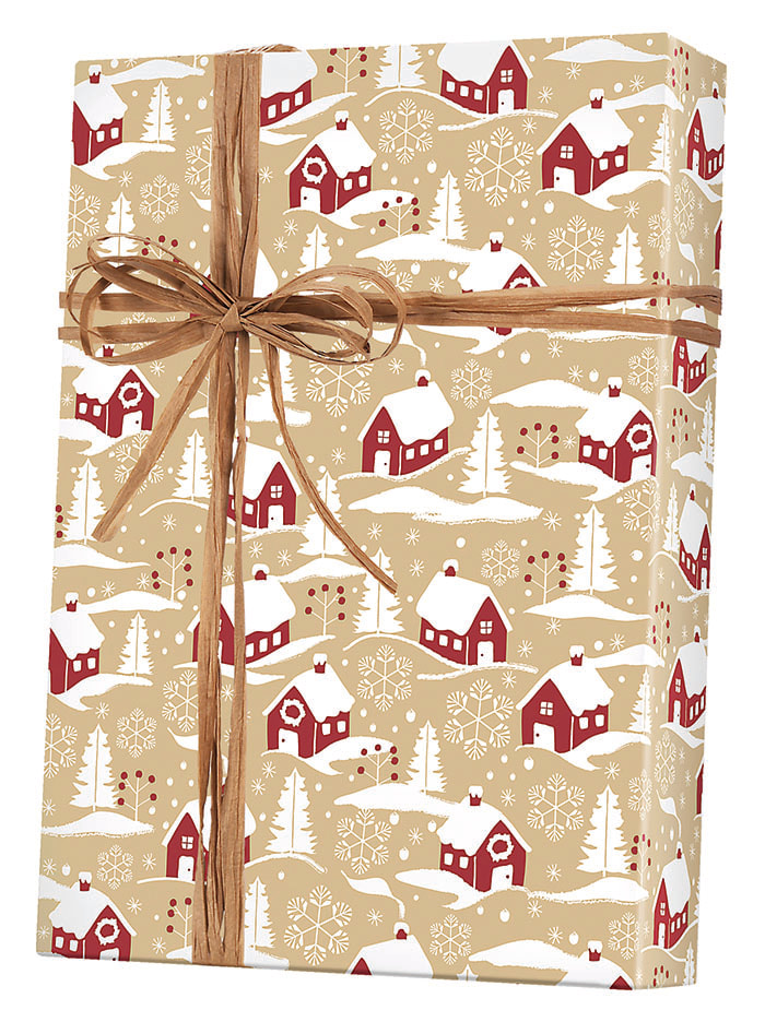 Home for Christmas/Kraft Wrapping Paper