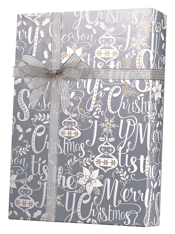 Scripted Holiday Wrapping Paper