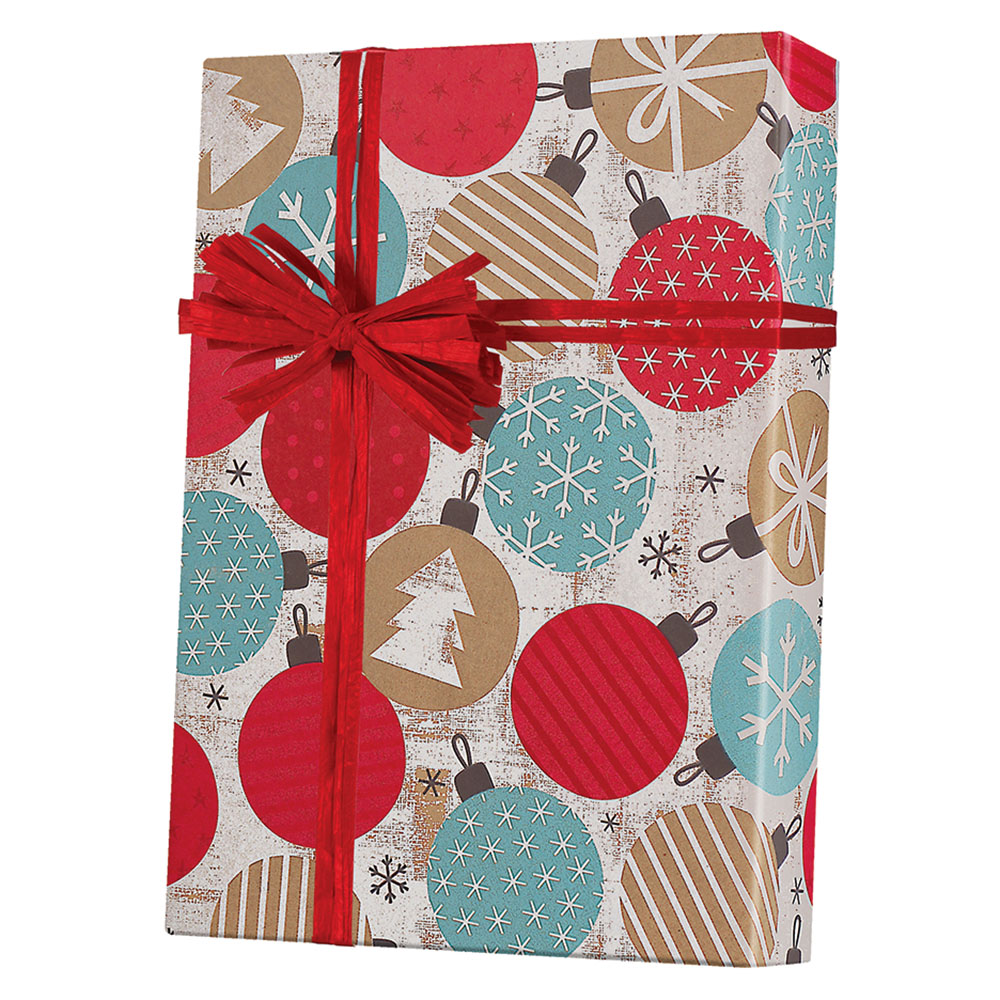 Twinkling Ornaments Wrapping Paper