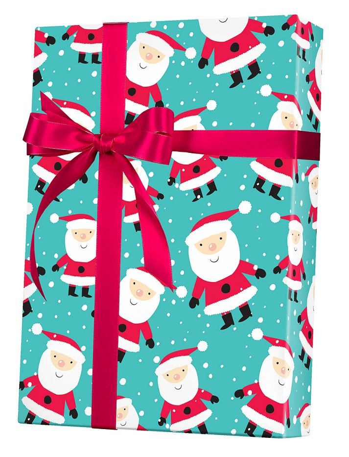 Snowy Santa Wrapping Paper
