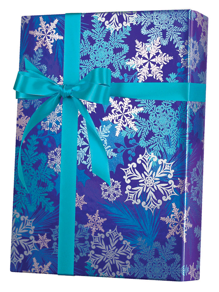Snowflake Swirl Wrapping Paper